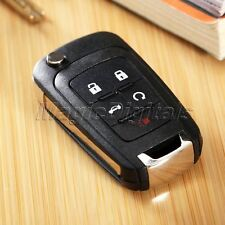 Folding 5 Buttons Flip Remote Key Fob Shell Case for 2010-2013 Chevrolet Equinox