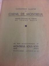 catalogue sur le chenil de Montreuil Seine Saint Denis 93 - chien  ( ref 3 )