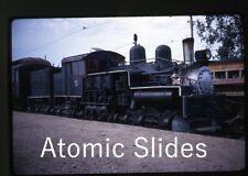 1968 kodachrome photo slide Old Railroad train Museum Display
