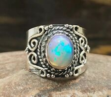 Ethiopian Opals Ring 925 Solid Sterling Silver Ring Handmade Ring Statement Ring