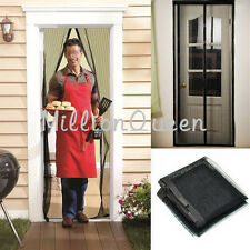 Curtain Door Mesh Magnetic Fastening Fly Bug Mosquito Insects Magic Screen Snap
