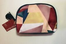 Sonia Kashuk Rounded Double Zip Clutch Cosmetic Travel Bag Geometric