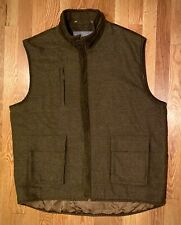 Hickey Freeman Hunting Style. Twill Mens XL Vest. Wool. Lined.