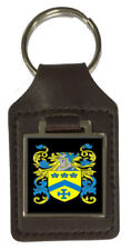 Mowatt Family Crest Surname Coat Of Arms Brown Leather Keyring Engraved
