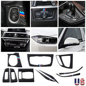 6x Real Carbon Fiber Car Trim Cover For BMW 3 Series F30 328 320i 2013-2018 B#