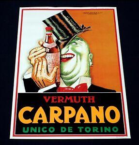 CARPANO poster manifesto affiche Vermouth Apéritif Bottle Achille Mauzan I1