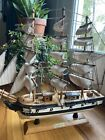 """Vintage Wood Model Navy Sailing Ship~USS Constitution~Old Ironsides~1779~15""""x16"""""""