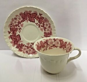 Wedgwood BRAMBLE PINK Cup and  Saucer Set More items available