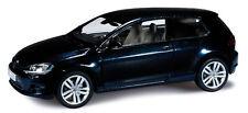 VW Golf VII 3 Portes bleu nuit métallisé - Herpa - Echelle 1/43