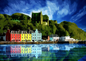 Tobermory 2 Scotland Limited Art Print by Sarah Jane Holt