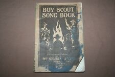 BSA Boy Scout Song Book 1920 CC Birchard