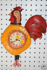 """Michelle Allen Designs ROOSTER CLOCK  """"Cock a Doodle"""" ships PRIORITY  in 24 hrs"""