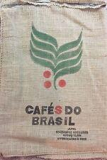 Lot of 10 Brazil Burlap Coffee Bag Gunny Sack / B10
