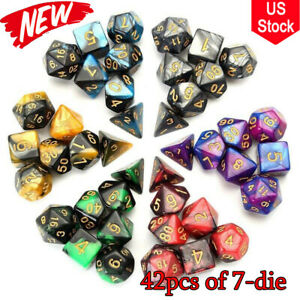 42pcs Polyhedral Dice Dungeons and Dragons DND RPG MTG props for Table Games USA