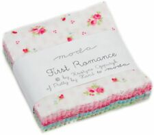 "First Romance Moda Mini Charm Pack 42 100% Cotton 2.5"" Precut Squares"