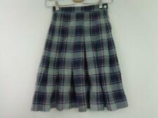 Parker Skirt School Uniform Size 22 Blue Red White  Plaid Pleated
