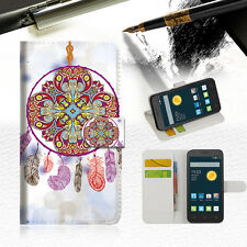 Dream Catcher Wallet Case Cover For Telstra Optus Alcatel Pixi 3 4.5 --A016