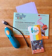 3Doodler Create BUNDLE 3D Printing Pen with Charging Cord, Strands, Doodlepad +