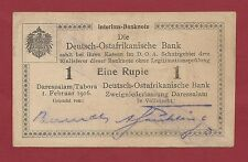 GERMAN EAST AFRICA 1 RUPIEN 1916 P-19 RARE  WEST AFRICA GERMANY