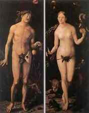 Baldung GRIEN Hans Adam And Eve 5 stampa in A4