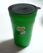 "MILO Plastic Drink Football WATER TUMBLER 400ml 6"" Tall NESTLE Lid Go Further"