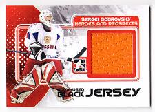 Sergei Bobrovsky 2010-11 ITG Heroes Prospects Update Jersey Black Card /100
