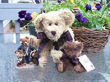 BOYDS~UNCLE GUS And HONEYBUNCH!~♥~QVC L.E.!~ MOHAIR BEAR SET & RESIN!~1997~♥~