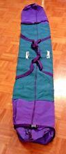 Vintage Ll Bean Ski Bag Emerald Purple Logo Skiing Travel Carrier J-283 Usa Made