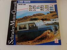 Schrader Motor Chronik  Land Rover 1948-1995 / Landrover