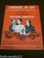 ORIGINAL SHEET MUSIC - SOMEWHERE, MY LOVE from DOCTOR ZHIVAGO