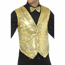 Costumi e travestimenti gilet in oro in poliestere per carnevale e teatro da uomo