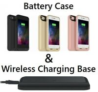 MOPHIE Qi Wireless Battery Case Cover + Wireless Charging Base For iPhone 8 & 7