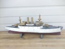 ANTIQUE USS INDIANA (BB-1) FOLK ART NAVY BATTLESHIP MODEL - CIRCA 1890'S - NICE