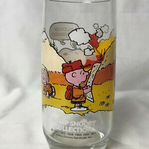 McDonald's 1971 Peanuts Camp Snoopy Collection Drinking Glass Collectors Cup
