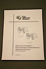 FMC / John Bean 8.6 / 8.7 High Performance Wheel Balancer Operating Manual