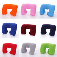 Portable Inflatable Flight Pillow Neck U Shape Rest Air Cushion Eye Mask Earplug
