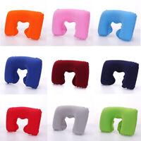 Portable Inflatable Flight Pillow Neck U Shape Rest Air Cushion Eye Mask Earplug