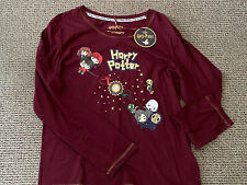 PRIMARK Ladies Women's Girls HARRY POTTER Pyjama PJ Top Shirt Size Medium 12-14
