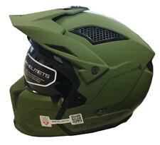 MT Street Fighter Motorrad / Roller Sturzhelm, Abnehmbare Maske Matt Grün