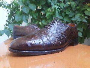 EDWARD GREEN Men's Brown Genuine Alligator Oxford Shoes Sz US 10 D