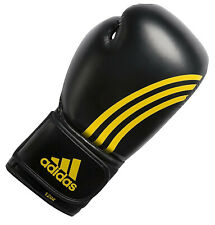 Adidas Gloves Tactik Pro Boxing Gloves 12 oz Black/Yellow Stripes