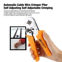 Wire Cable Crimper Plier Ratchet Crimping Terminal Tool Pre-insulated 0.25-6mm²
