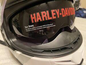 Harley Davidson Helmet Full Face White Grey Black. MSRP $135