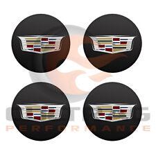 2016-2018 Cadillac ATS-V GM Black Center Cap Multicolor Crest Set Of 4 19352590