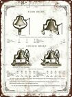 "1890 CS Bell Hillsboro Ohio Church Farm Bell Cast Steel Metal Sign 9x12"" A355"
