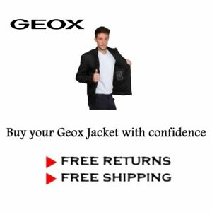 Geox Mens Black Casual Elegant Non-padded Jacket -Free Shipping and Returns