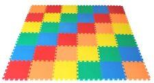Childrens Floor EVA Foam Tiles Play Mat Set - Each Tile 30 x 30cm Multicolour
