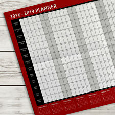 2018 2019 a2 academic wall planner calendar mid year g43