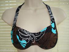 Pour Moi? Bali Ferretto Bikini Top cioccolato / blu Taglia 32 quater / 32 D Nuovo con etichetta