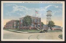 Postcard WARREN Ohio/OH  General Fire Extinguishers Factory/Plant Offices 1910's